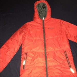 Red Colombia thermal jacket